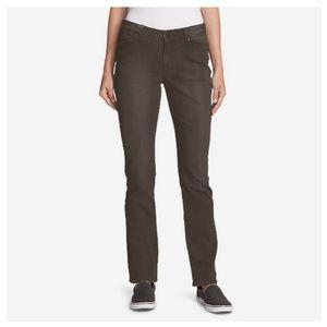 Eddie Bauer Light Brown Slightly Curvy Jeans